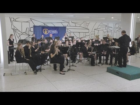 South Lewis High School Concert Band Perform in the Empire State Plaza Concourse