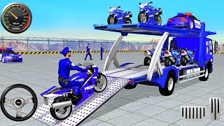 Police Bike Transport Truck- Best Android IOS Gameplay screenshot 2