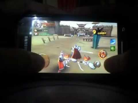 Samsung Galaxy W I8150 Playing The Heroes of Three Kingdoms HD RPG Game