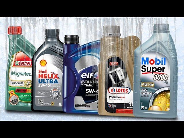 Olej 5W40 Test Zimna -30°C Shell 5W40, Mobil 5W40, Lotos 5W40, Castrol 5W40, Elf 5W40