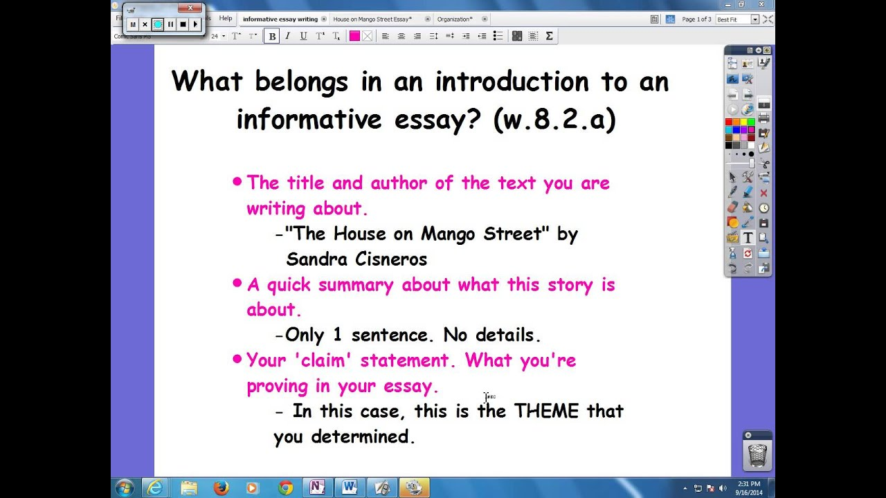 introduction of essay This is a sample video from a full video tutorial course that teaches you how to improve your academic.