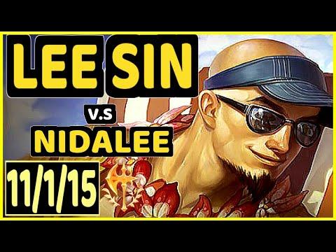 SOFM (LEE SIN) vs NIDALEE - 11/1/15 KDA JUNGLE GAMEPLAY - KR Ranked GRANDMASTER