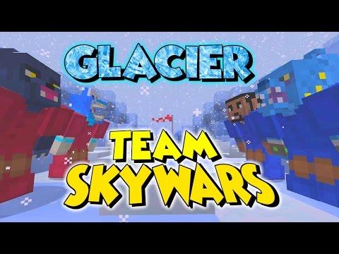 GLACIER TEAM SKYWARS // WHAT A WHITE WASH!! // MINECRAFT XBOX