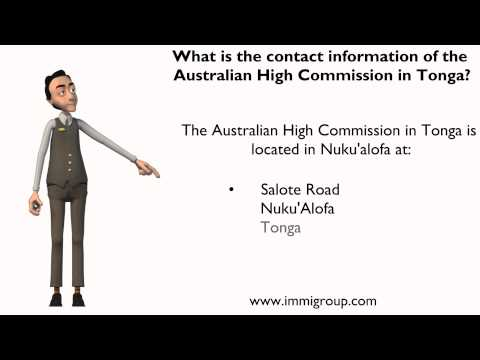 What is the contact information of the Australian High Commission in Tonga?