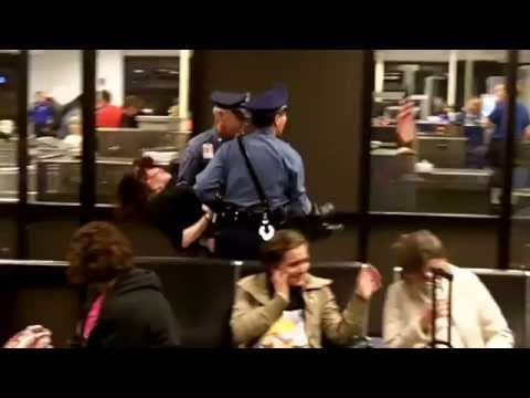 Crazy woman in Boston airport