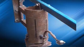 пресс для топливных брикетов Homemade briquette press