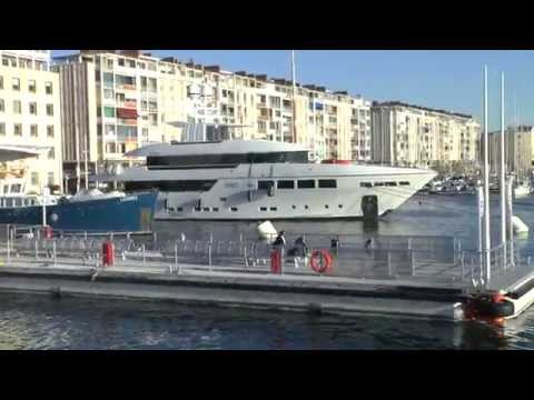 Toulon boat and city walk 2014 HD. France.