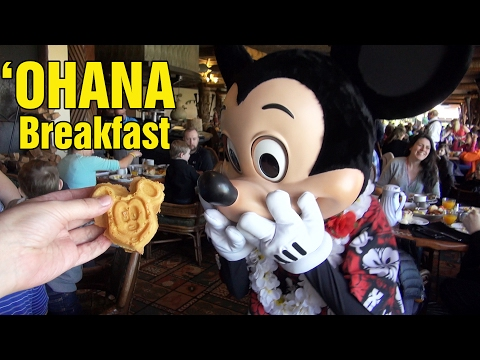 OHANA Best Friends Character Breakfast at Disney's Polynesian Resort w/ Lilo & Stitch, Mickey, Pluto