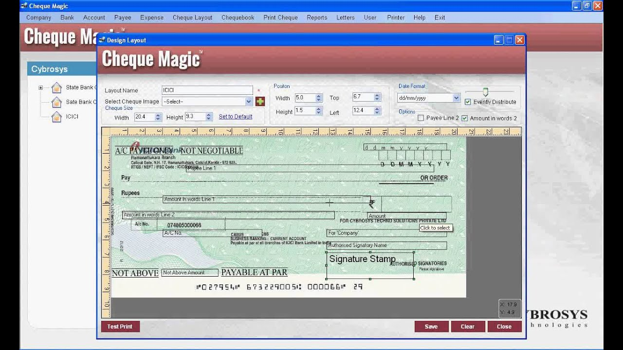 Cheque Layout Design Tutorial Youtube