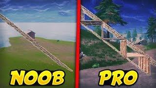 CONSTRUCTION NOOB VS PRO SUR FORTNITE BATTLE ROYALE (+Tutoriel réalisation facile)