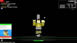 me glitching on ROBLOX :D