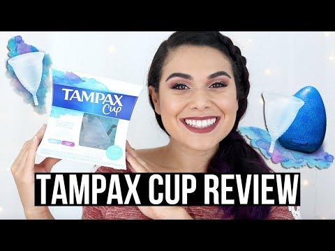 TAMPAX CUP REVIEW: The Newest Menstrual Cup!