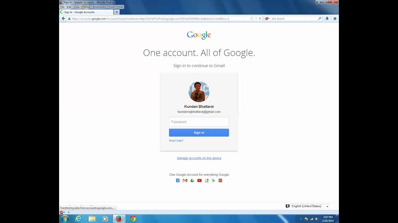 Complete gmail online tutorial: How to remove saved gmail account from the  computer