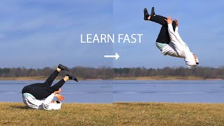 How to Turn a Back Roll into a Backflip Fast