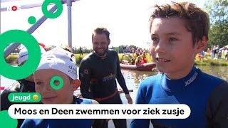 Kinderen zwemmen met Maarten van der Weijden