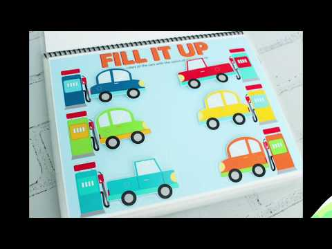 Cars Quiet Book: Cars Themed Activity Book For Toddlers