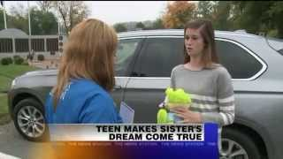 Teen Makes Sister`s Dream Come True With Stuffed Frog