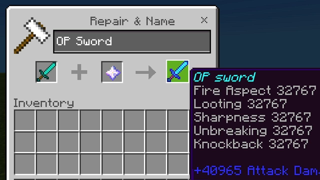 MAX LEVEL ENCHANTMENTS in Minecraft Pocket Edition (Level 32767 Tools)