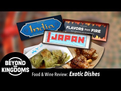 Epcot Food & Wine Festival Best Exotic Food Dishes