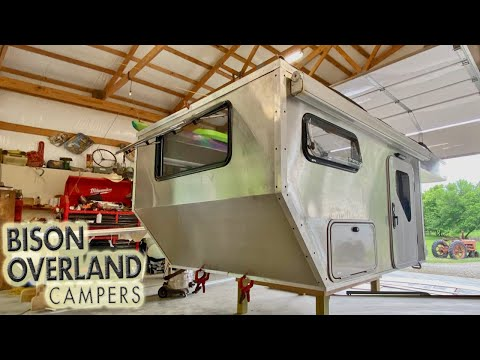 Custom Aluminum Pop Up Flat Bed Truck Camper By BISON OVERLAND