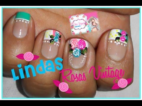 Decoraci n de u as rosas youtube - Fotos decoracion de unas ...