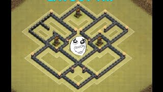 Clash of Clans - LAYOUT TH7/CV7 3 AIR DEFENSE(NEW UPDATE ) 2016