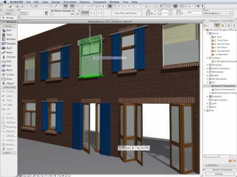ArchiCAD 14 New Features - Extended Options for Doors & Windows