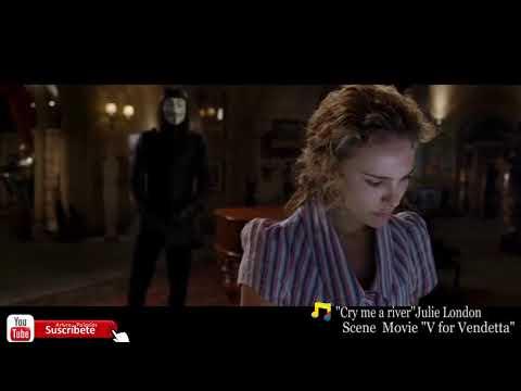 """Escena de la pelicula """"V for vendetta"""" en Latino #VdeVenganza Song """"Cry me a river Julie London"""""""
