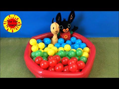 Bing Bunny SWIMMING POOL learn COLOURS with jumbo balls