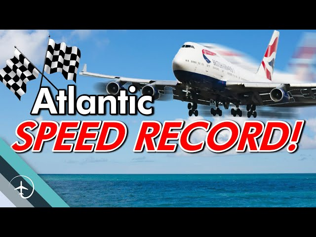 Airplane Atlantic speed record!