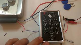 Настройка Панели контроля доступа для работы с электромеханическим замком