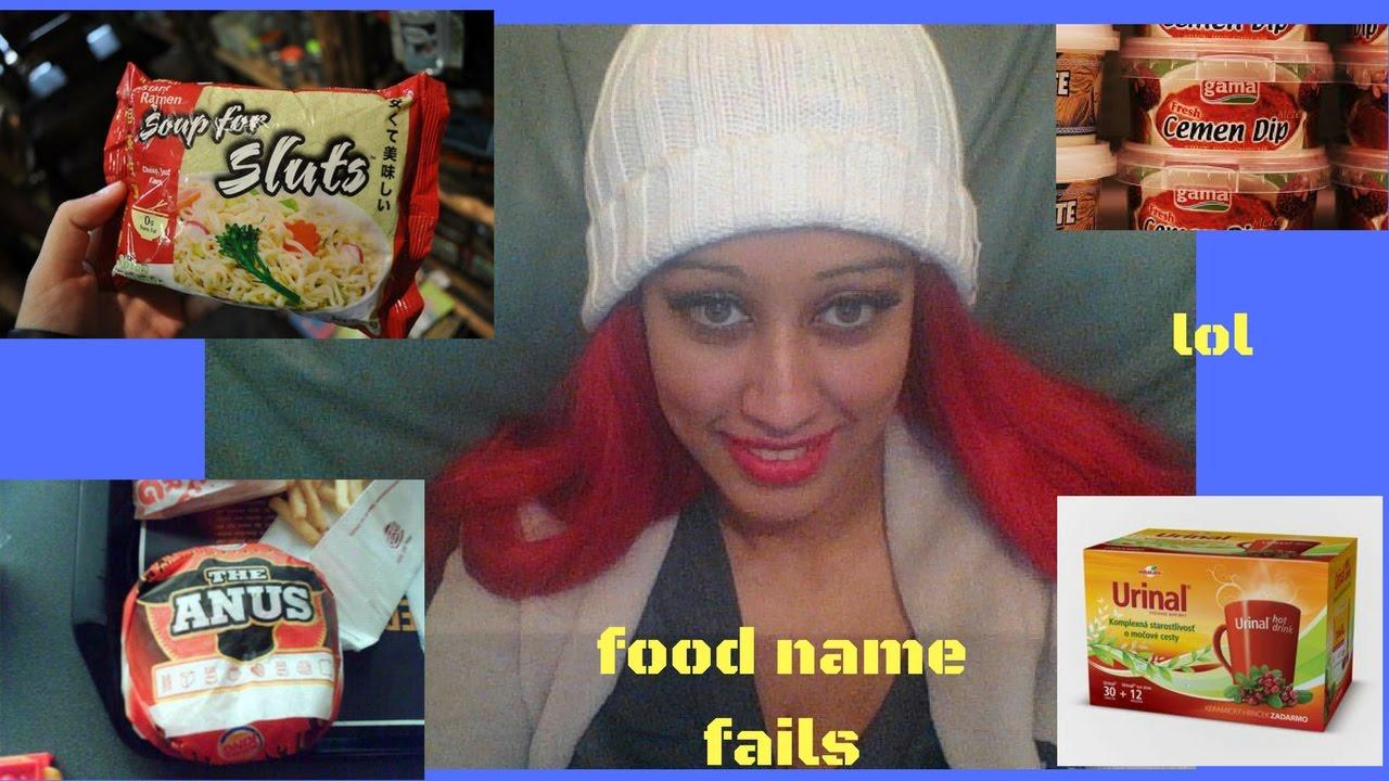Funny Name Fails: Funny Food Name Fails