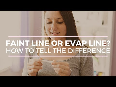 WHAT IS AN EVAP LINE ON YOUR PREGNANCY TEST?