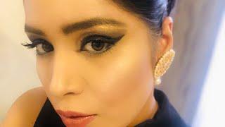 EASY BROWN SMOKEY MAKEUP TUTORIAL ( Deepika Padukone inspired hairstyle & makeup)🥰🤩