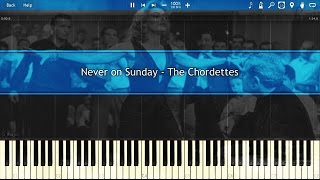 Never on Sunday - The Chordettes [EASY] [Piano Tutorial]
