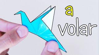 Pájaro de Papel que mueve las ALAS! - Origami