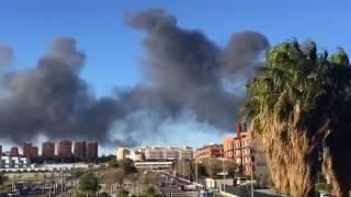 Incendio y explosión en Paterna (Valencia)