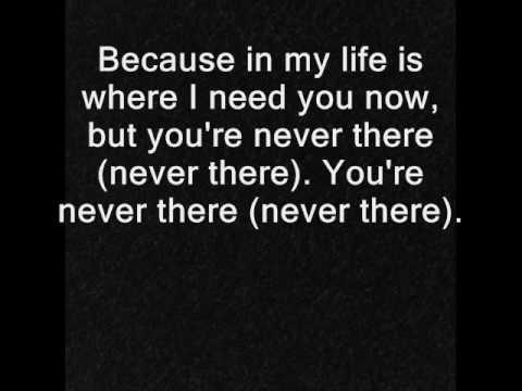 Hoobastank - Never There w/lyrics