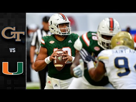 Georgia Tech vs. Miami Football Highlights (2017)