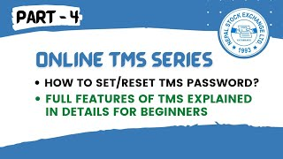 How to set/recover/change online TMS password ? | TMS website Full Tutorial for beginners | Part - 4