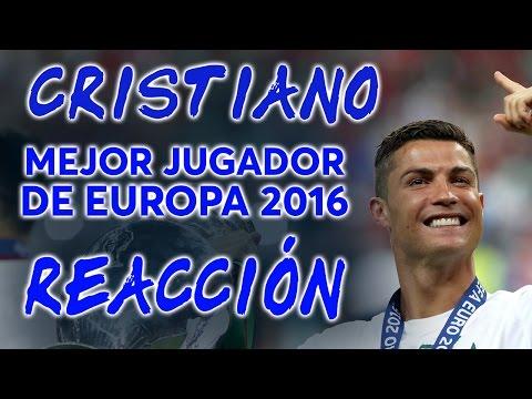 Cristiano Ronaldo, Mejor Jugador de Europa 2016 | REACCIÓN