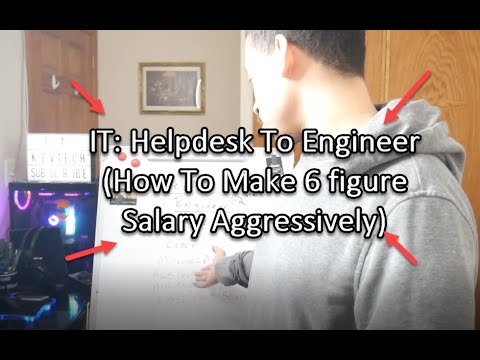 IT: Helpdesk To Engineer (How To Make 6 figure Salary Aggressively)