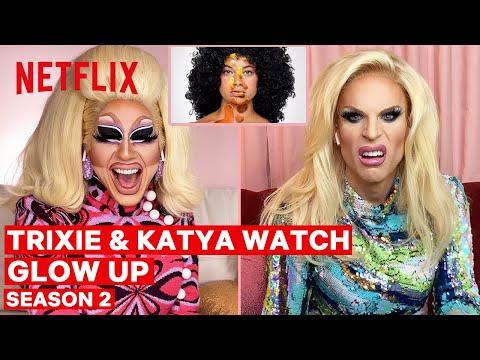 Drag Queens Trixie Mattel & Katya React to Glow Up Season 2 | I Like to Watch | Netflix