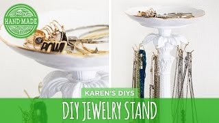 Diy Jewelry Stand - Karen's Thrift Store Challenge - Hgtv Handmade