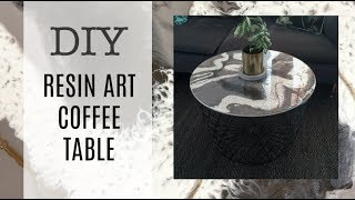 DIY Resin Art Coffee Table