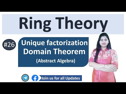 Unique factorization domain theorem examples in Hindi (  Abstract Alegbra)