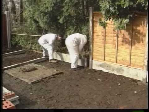 Erecting A Fence With Concrete Posts Youtube
