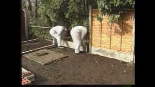 Erecting A Fence With Concrete Posts