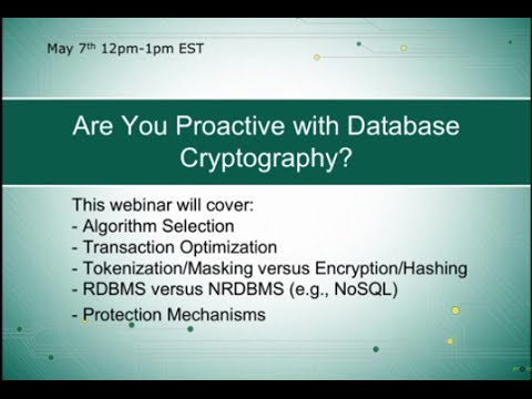 Proactive Risk Presents: Database Cryptography w/ Steve Mark