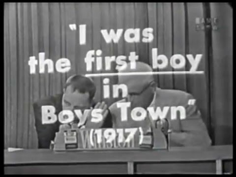 First boy in Boys Town (IGaS 9/9/59)